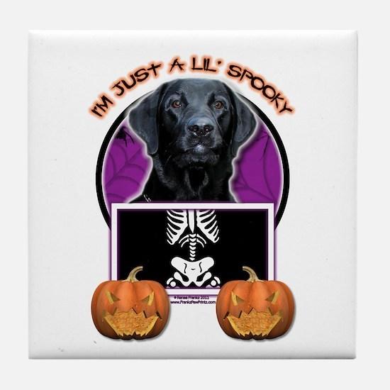 Just a Lil Spooky Labrador Tile Coaster