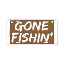Gone Fishin' (Fishing) Aluminum License Plate