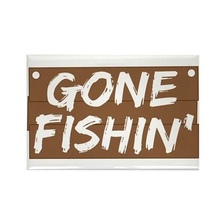 Gone Fishin' (Fishing) Rectangle Magnet