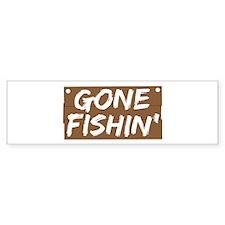 Gone Fishin' (Fishing) Bumper Sticker