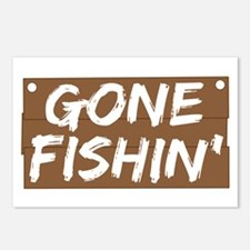 Gone Fishin' (Fishing) Postcards (Package of 8)
