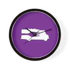 Food Truck: Side/Fork (Purple) Wall Clock