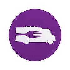"""Food Truck: Side/Fork (Purple) 3.5"""" Button"""