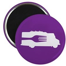 Food Truck: Side/Fork (Purple) Magnet