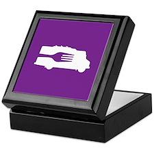 Food Truck: Side/Fork (Purple) Keepsake Box