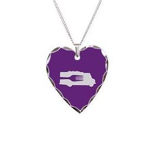 Food Truck: Side/Fork (Purple) Necklace