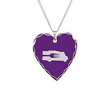 Food Truck: Side/Fork (Purple) Necklace Heart Char