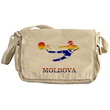 Moldova Soccer Player Messenger Bag