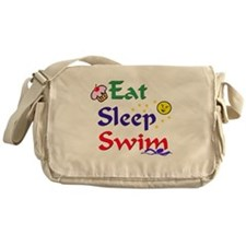 Eat Sleep Swim Messenger Bag