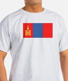 Mongolian Flag Ash Grey T-Shirt