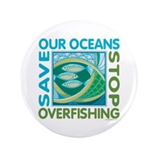 """Save Our Oceans 3.5"""" Button"""