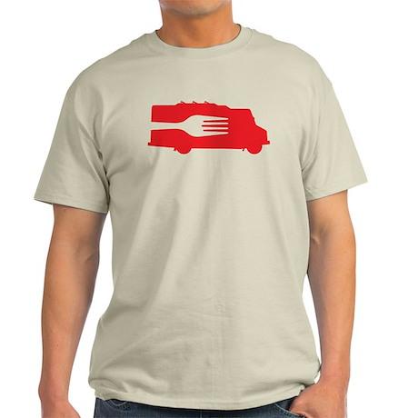 Food Truck: Side/Fork (Red) Light T-Shirt