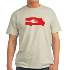 Food Truck: Side/Fork (Red) T-Shirt