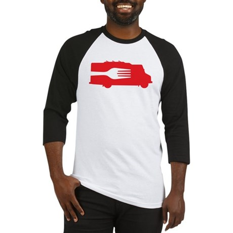 Food Truck: Side/Fork (Red) Baseball Jersey