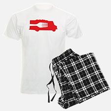 Food Truck: Side/Fork (Red) Pajamas
