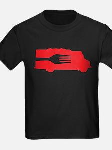 Food Truck: Side/Fork (Red) T