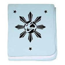 Symbols of Philippine History baby blanket