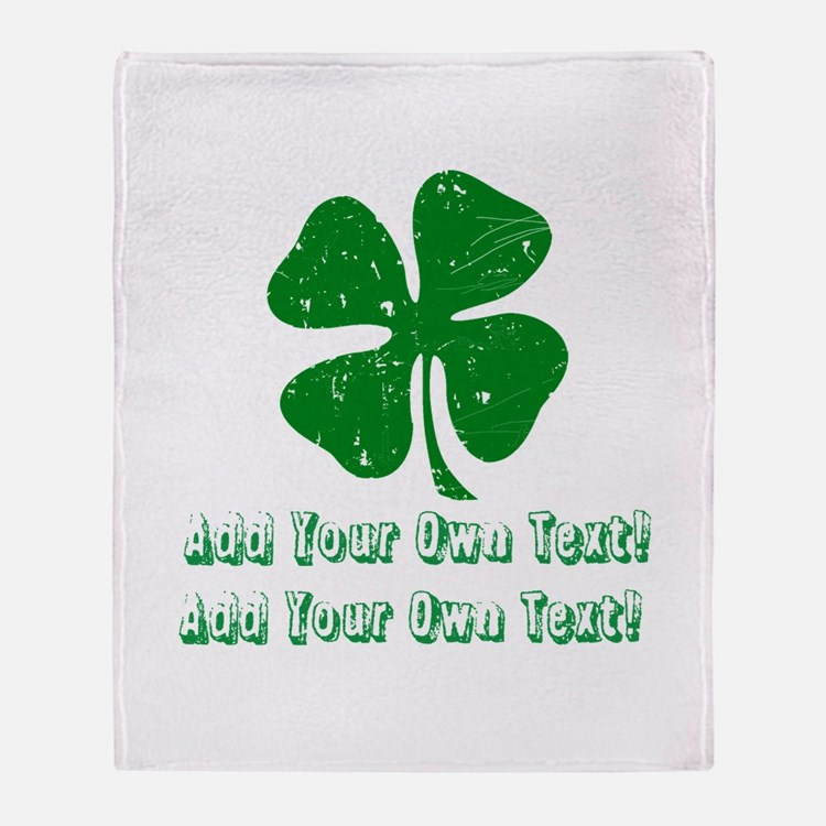 Personalize it - St. Patty's Day Throw Blanket