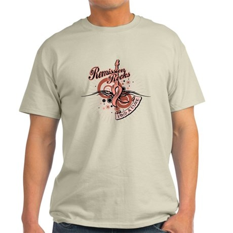 Uterine Cancer RemissionROCKS Light T-Shirt