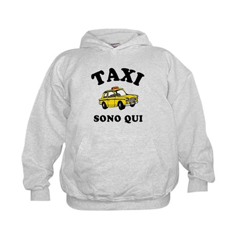 Taxi Sono Qui Kids Hoodie