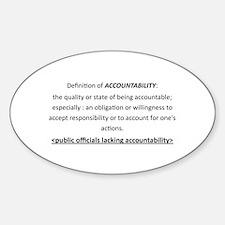 Accountability Decal