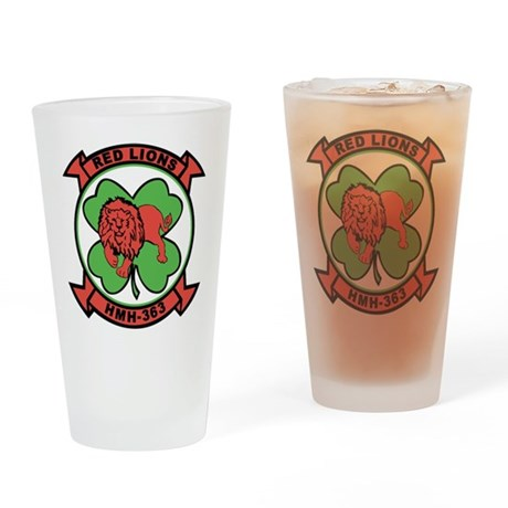 Hmh-363 Red Liions Drinking Glass
