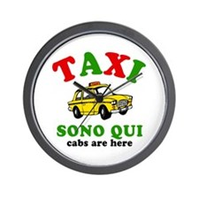 Cabs Are Here Italy! Wall Clock