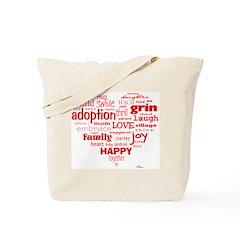 Adoption Adjectives Tote Bag
