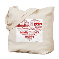Adoption Adjectives Tote Bag