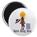 Barrel Racing Chick Magnet
