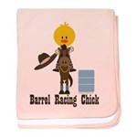 Barrel Racing Chick baby blanket