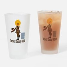 Barrel Racing Chick Drinking Glass