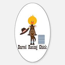 Barrel Racing Chick Decal