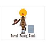 Barrel Racing Chick Small Poster