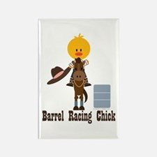 Barrel Racing Chick Rectangle Magnet