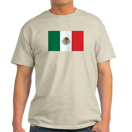 Mexican Flag Ash Grey T-Shirt