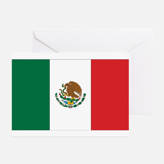 Mexican Flag Greeting Cards (Pk of 10)