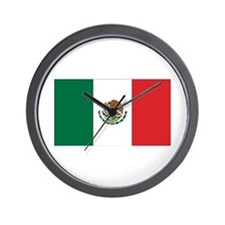 Mexican Flag Wall Clock
