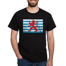 Luxembourg Civil Ensign Black T-Shirt