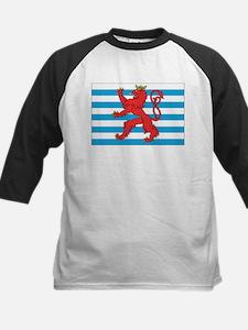 Luxembourg Civil Ensign Kids Baseball Jersey