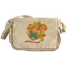 Groovy Afghan Hound Messenger Bag