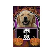 Just a Lil Spooky Golden Rectangle Magnet (100 pac
