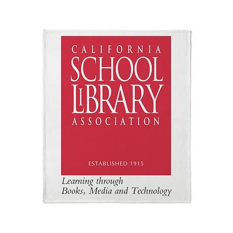 California School Library Throw Blanket