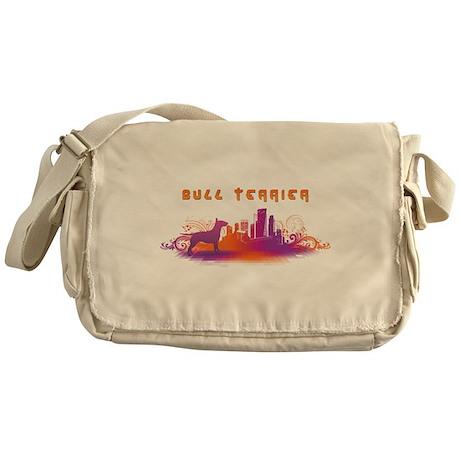 """""""City"""" Bull Terrier Messenger Bag"""