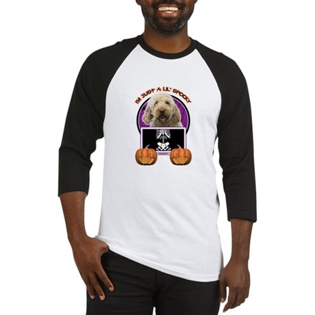 Just a Lil Spooky GoldenDoodle Baseball Jersey