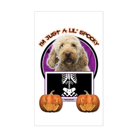 Just a Lil Spooky GoldenDoodle Sticker (Rectangle)
