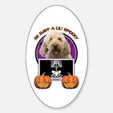 Just a Lil Spooky GoldenDoodle Decal