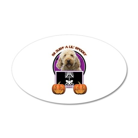 Just a Lil Spooky GoldenDoodle 38.5 x 24.5 Oval Wa