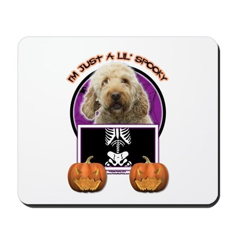 Just a Lil Spooky GoldenDoodle Mousepad