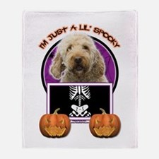 Just a Lil Spooky GoldenDoodle Throw Blanket